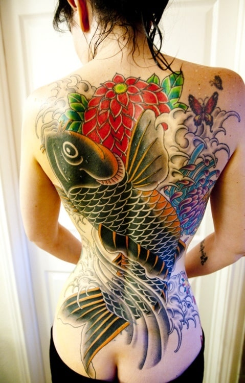 Tatouage carpe koi 47 inkage for Poisson koy