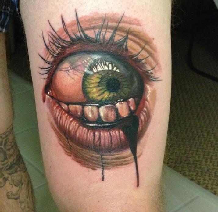 Un tatouage d oeil 12 inkage - Tatouage larme sous l oeil ...