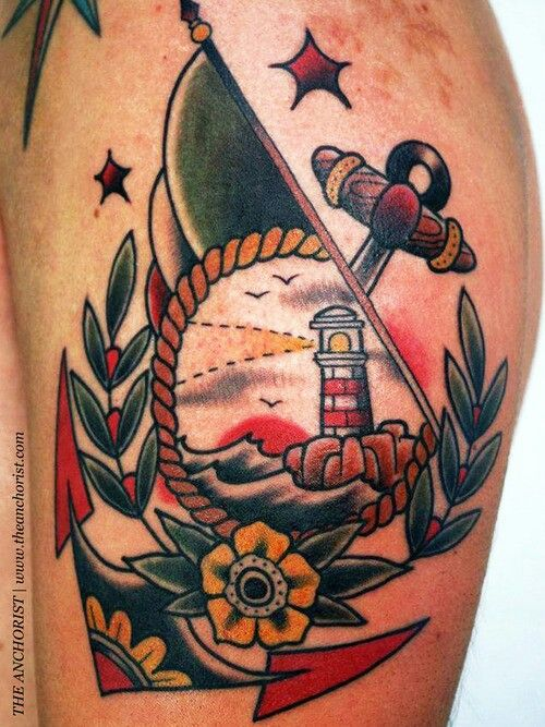Tatouage ancre de marin 32 inkage for American anchor tattoo