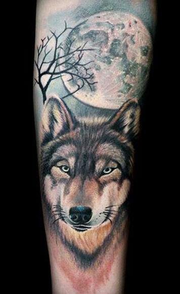 un tatouage de loup 12 inkage. Black Bedroom Furniture Sets. Home Design Ideas
