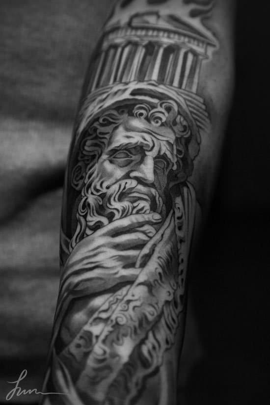 Tatouage de statue par jun cha 78 inkage for Jun cha tattoos
