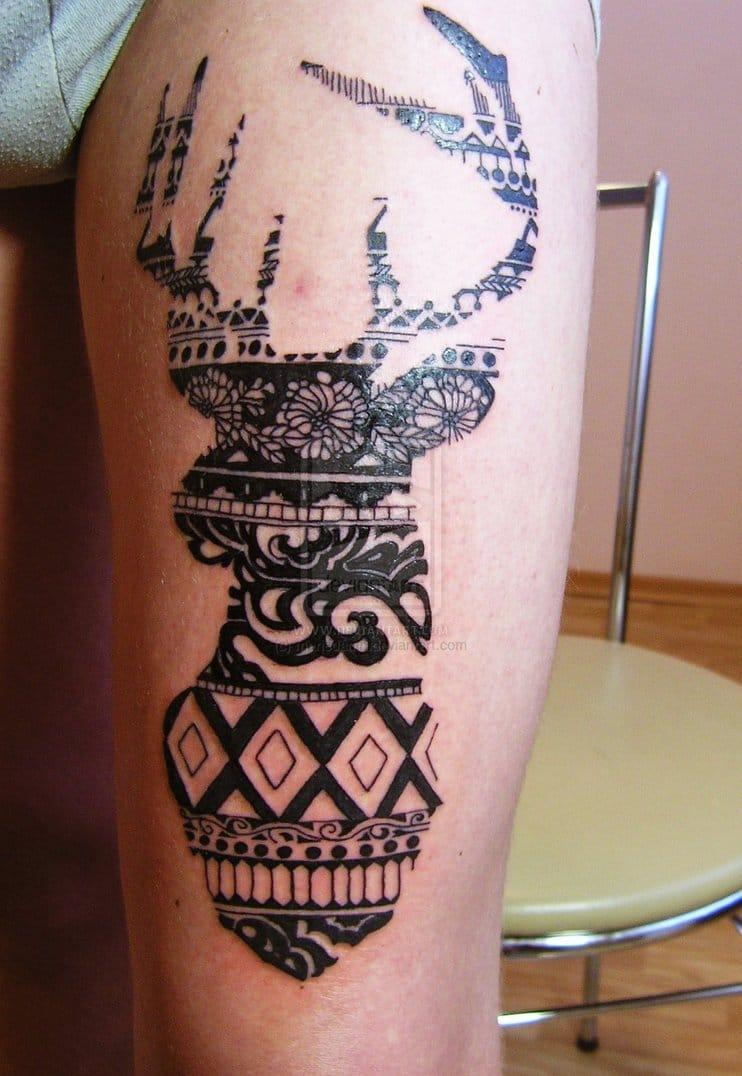 tatouage graphique animaux. Black Bedroom Furniture Sets. Home Design Ideas
