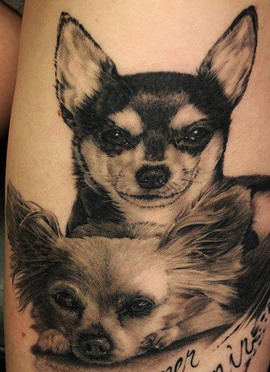 tatouage r aliste de chien par andy engel 18 inkage. Black Bedroom Furniture Sets. Home Design Ideas