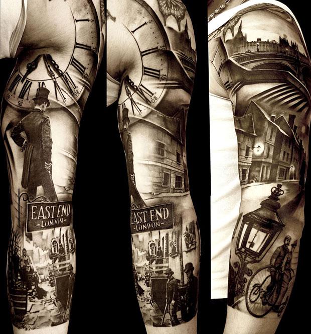 Un tatouage de Matteo Pasqualin