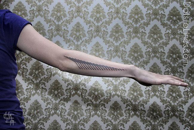 les tatouages g om triques de chaim machlev inkage. Black Bedroom Furniture Sets. Home Design Ideas