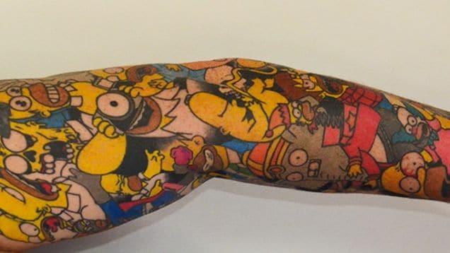 tatouage-simpson-record