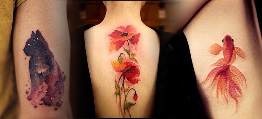 Les Magnifiques Tatouages Estampe Et Aquarelle De Chen Jie Inkage
