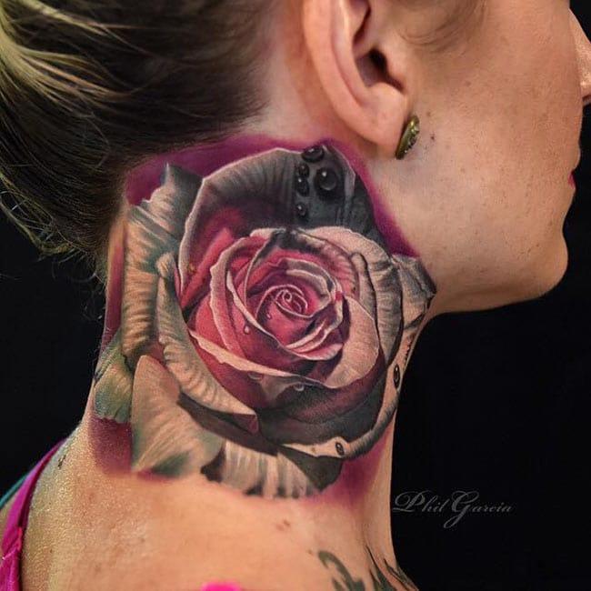 Les sublimes fleurs de phil garcia inkage - Tatouage rose bleu ...
