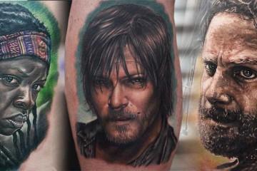 Selection de 20 tatouages sur l-univers de The Walking Dead